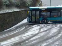 Mistrz jazdy autobusem w zimie