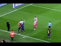 Uścisk z Leo Messi