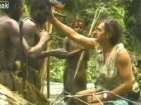 Pierwsze spotkanie dzikiego plemienia z białym człowiekiem