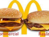 McDonald's w reklamie i rzeczywistości