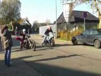 Pojedynek 70 konnego Harleya z 180 konną Hondą
