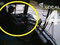 kierowca autobusu zasypia za kolkiem i powoduje karambol na drodze
