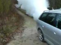 Super dymiące Audi!