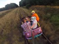 Maluchem po torach - Fiat 126P Cabrio w akcji! (GoPro 3+)