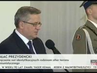 Gajowy Bronisław Komorowski o Żołnierzach Wyklętych 01.03.2015
