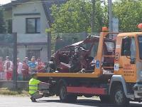 Wypadek podczas wyścigów na 1/4 mili w Rzeszowie