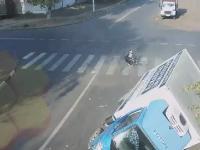 Niesamowity fart rowerzysty