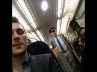 Pijany dziadek wraca ostatnim pociągiem z pubu