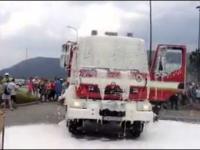 Troszkę nieudany pokaz strażacki