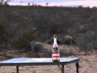 Otwieranie butelki snajperką