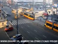 Czołowe zderzenie tramwajów w Warszawie