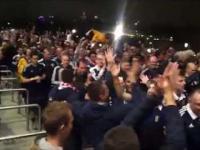 Polscy kibice kulturalnie żegnają szkockich po meczu w Warszawie