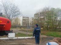 Pokaz możliwości sprzętu przeciwpożarowego