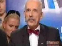 Warszawska debata wyborcza: Korwin-Mikke z Krasnoludkiem