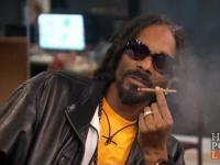 Snoop jara trawkę i fristajluje na żywo w telewizji