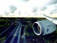 FSX realistic graphics - LOT 787 Landing Kraków EPKK (Window view)