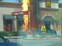 Imponujące eksplozje w McDonalds