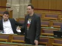 Posel Jobbiku Adam Mirkoczki w węgierskim parlamencie o Marszu Niepodległości