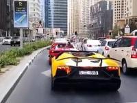 Kierowca niechcący podpalił swoje Lamborghini
