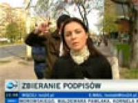 Taniec z reporterką, bez wiedzy reporterki