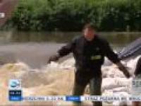 Reporterzy TVN przeszkadzają w walce z powodzią