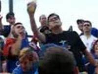 Mistrz piwa na treningu baseballa