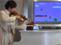Super Mario na skrzypcach