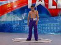 Mam talent 3 - odcinek 1 - Mirek Tyznar - okrągłe akrobacje