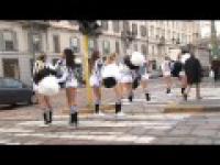 Cheerleaderki Juventusu w akcji