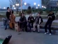 Pokaz rosyjskich studentów na ulicy