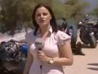 Trudna praca reporterki