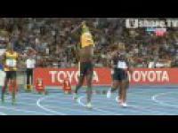 Falstart Usain Bolta na 100m.