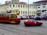 Crash Test Tramwaju z samochodem osobowym