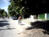 Wypadek na rowerze Solidny FACEPLANT