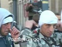 Lewacki prowokator na Marszu Niepodległości