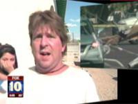 Świadek wypadku udziela wywiadu