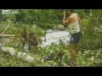 Dzikie plemię po raz pierwszy widzi białego człowieka