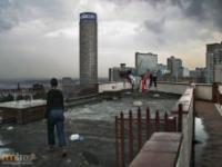 Zdemolowany drapacz chmur w RPA