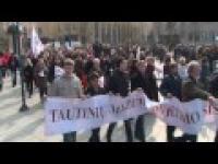 Wiec w obronie Polskości w Wilnie.