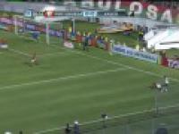 Gol Brazylijczyka Alecsandro w meczu Potuguesa - Vasco da Gama. Poezja futbolu