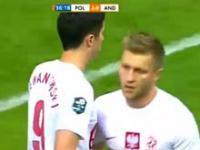 Fantastyczna przewrotka Roberta Lewandowskiego w meczu z Andorą