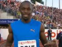 Usain Bolt ratuje panią od kwiatków