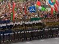 Domino podczas parady na Białorusi