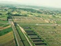 Auschwitz-Birkenau z lotu ptaka