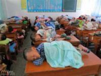 Drzemka w chińskiej szkole