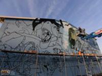 Graffiti 3D na ścianie
