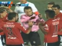 Czerwona kartka za cieszynke w lidze meksykańskiej