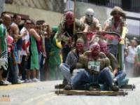 Pomysłowe wózki na festiwalu w Kolumbii