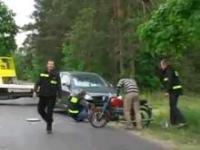 Brama weselna - wypadek na drodze