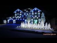 Synchronizacja świątecznie ozdobionego domu do hitu Gangnam Style Psy